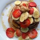 Fluffy Buckwheat Banana Pancakes