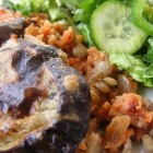 Easy Vegan Lentil and Aubergine Moussaka