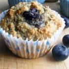Banilla, Blueberry and Yoghurt Oat Bran Muffins