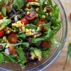 Fresh Sweet Corn, Cherry Tomato and Avocado Salad