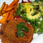 Vegan MoFo #14: Fruity Falafel Burgers