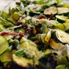 Green Bean and Courgette Salad with Tahini Dressing