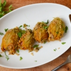Herb and Quinoa Stuffed Zucchini Blossoms