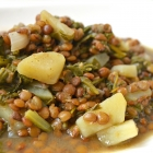 Lentil Spinach and Lemon Stew