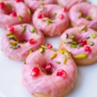 Vegan Vanilla Saffron Donuts with Rose Glaze
